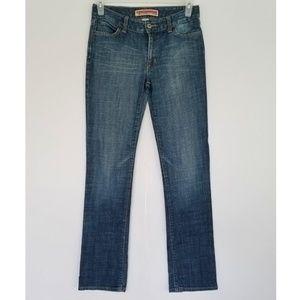 Curvy Straight Leg Blue Jeans by GAP